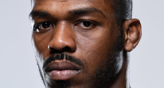 Jon Jones poses for a portrait during a UFC photo session on Dec. 26, 2018 in Las Vegas, Nevada. (Getty Images)