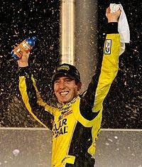 Kyle Busch picked up career victory No. 98 in Thursday night's Truck Series race at Kentucky Speedway