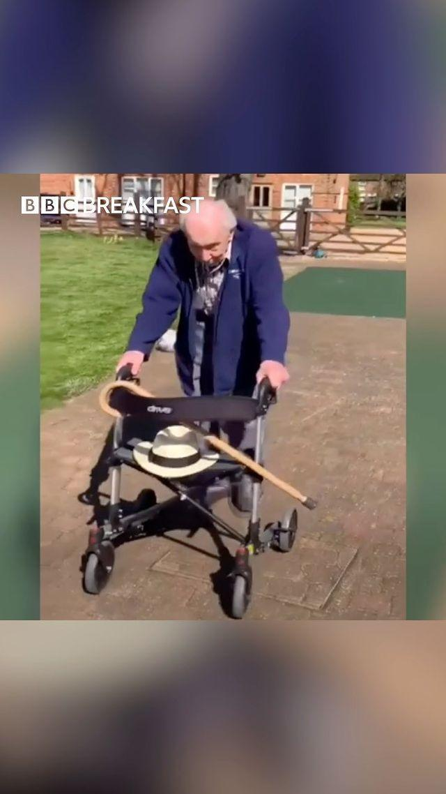 "<p>Tom Moore, a 99-year-old World War Two veteran, has completed 100 laps of his garden in Bedfordshire with his walking frame smashing his £1,000 target, by raising £18 million for the NHS. Spurred on by how much he's raised, Captain Moore - who turns 100 at the end of this month - continued with his laps after his first 100 to raise even more money for the NHS, who have previously treated him through cancer and a hip replacement. </p><p>Captain Moore's efforts even earned him a than you from the Duke and Duchess of Cambridge with <a href=""https://www.bbc.co.uk/news/uk-england-beds-bucks-herts-52321262"" rel=""nofollow noopener"" target=""_blank"" data-ylk=""slk:Prince William branding him 'a one-man fundraising machine'."" class=""link rapid-noclick-resp"">Prince William branding him 'a one-man fundraising machine'.</a> </p><p><a href=""https://www.instagram.com/p/B-9FTxhJe6c/"" rel=""nofollow noopener"" target=""_blank"" data-ylk=""slk:See the original post on Instagram"" class=""link rapid-noclick-resp"">See the original post on Instagram</a></p>"