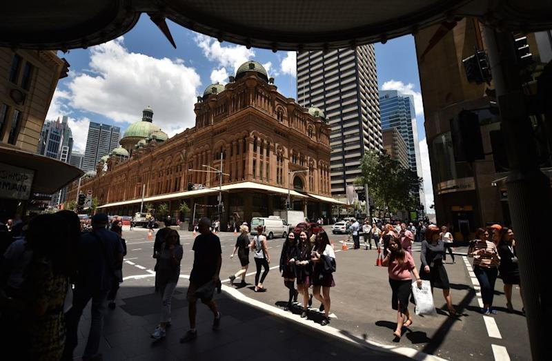 Sydney CBD. (Photo: PETER PARKS/AFP/Getty Images)