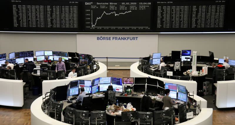 European shares at record high on China tariff cut plans, robust bank results