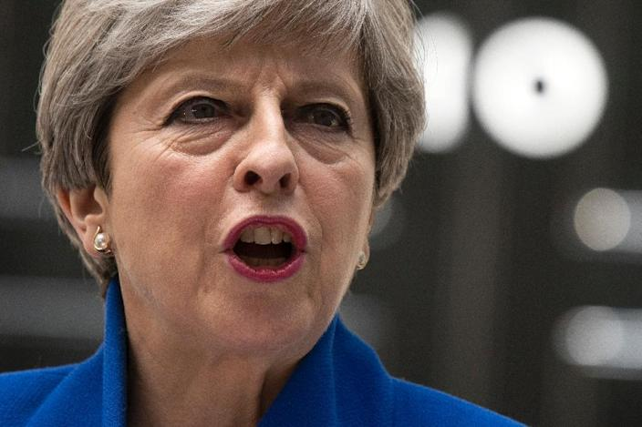 Britain's Prime Minister Theresa May says she will stick to the timetable for starting Brexit negotiations on June 19 (AFP Photo/Justin TALLIS)