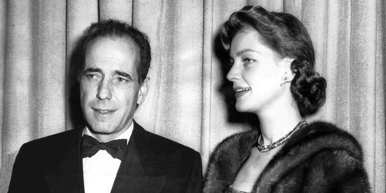 <p>Arguably the most iconic Hollywood couple of all time, Bogie and Bacall met while filming 1944's <em>To Have and Have Not</em>. They married in 1945 and made three more movies together—<em>Key Largo</em>, <em>Dark Passage</em>, and <em>The Big Sleep</em>—before Humphrey's death from cancer in 1957.  </p>