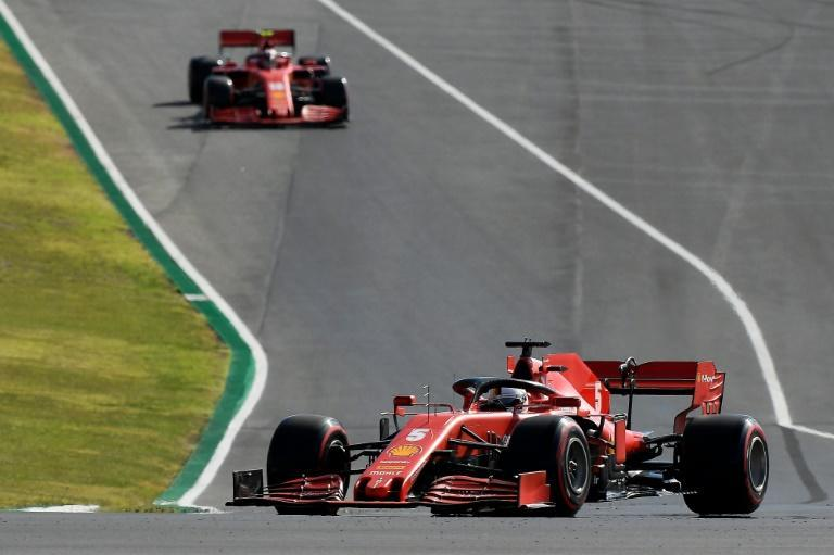Vettel and Leclerc in qualifying in Portugal