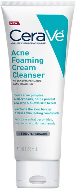 <p>The <span>CeraVe Acne Foaming Cream Cleanser</span> ($15) is formulated with a blend of acne-fighting benzoyl peroxide and skin-nourishing ceramides to help clear breakouts without being too harsh.</p>