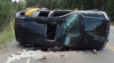 Vehicle occupied by victims Nichole Gough (driver), and Benjamin Mitton (passenger), after the crash. / Credit: 5th Judicial District Attorney