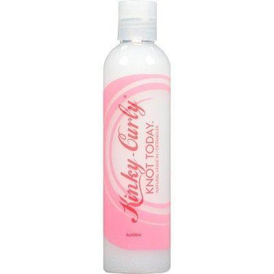 """<p><strong>Kinky-Curly</strong></p><p>target.com</p><p><strong>$11.99</strong></p><p><a href=""""https://www.target.com/p/kinky-curly-knot-today-leave-in-conditioner-detangler-8-oz/-/A-13044269"""" rel=""""nofollow noopener"""" target=""""_blank"""" data-ylk=""""slk:Shop Now"""" class=""""link rapid-noclick-resp"""">Shop Now</a></p><p>Single strand knots, tangles, oh my. It's nearly impossible to have 4C hair without both of these. Thankfully, this tried-and-true formula never disappoints. It's made with organic fruit extracts and herbs that add moisture to your strands and help knots slip out, too. Plus, it doubles as a leave-in treatment. That's a win-win in my book.</p>"""