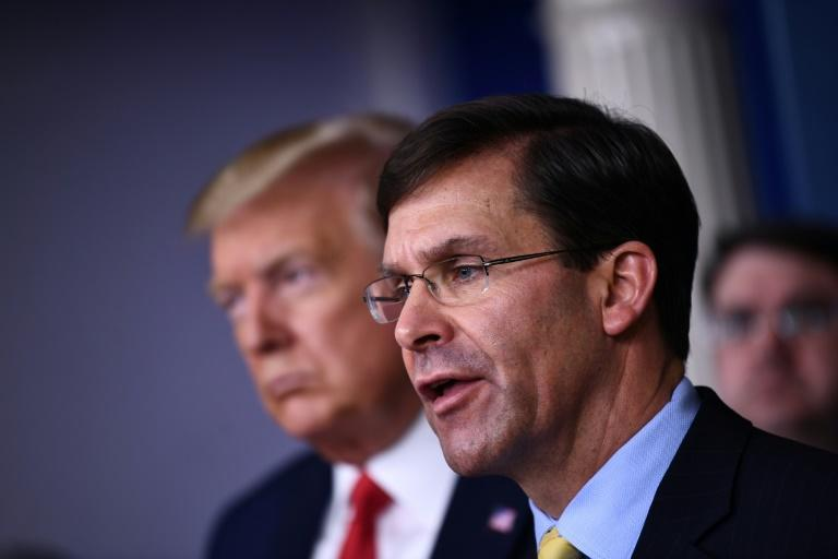 US Defense Secretary Mark Esper has defended the firing of the captain of an aircraft carrier who pleaded for action to protect the crew of his aircraft carrier (AFP Photo/Brendan Smialowski)