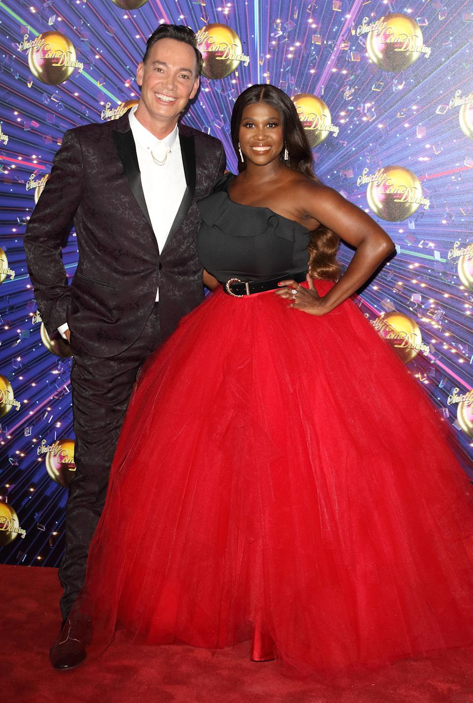 LONDON, UNITED KINGDOM - 2019/08/26: Craig Revel Horwood and Motsi Mabuse at the Strictly Come Dancing Launch at BBC Broadcasting House in London. (Photo by Keith Mayhew/SOPA Images/LightRocket via Getty Images)