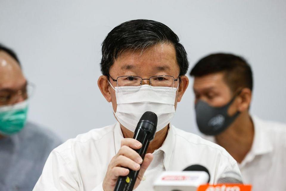 Penang DAP chairman Chow Kon Yeow speaks during a press conference at Wisma DAP in George Town January 7, 2021. — Picture by Sayuti Zainudin