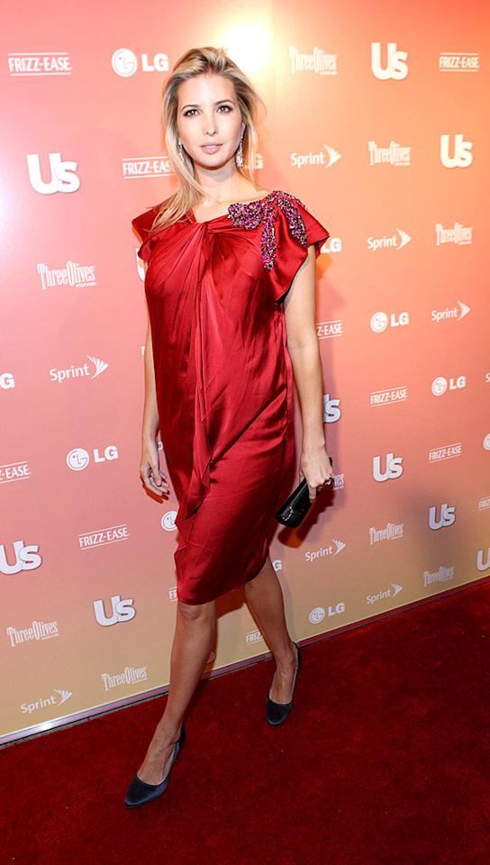 """Ivanka Trump failed to impress in a shapeless scarlet sheath, a lame 'do, and boring blue shoes. Bennett Raglin/<a href=""""http://www.wireimage.com"""" target=""""new"""">WireImage.com</a> - September 16, 2009"""