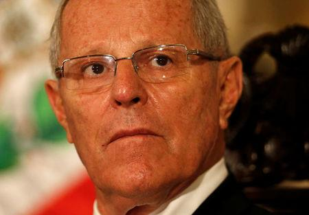 Peru's President Pedro Pablo Kuczynski attends a binational cabinet meeting at the Government Palace in Lima