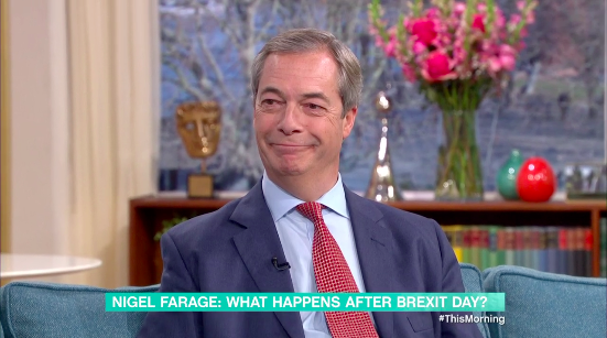 Nigel Farage on This Morning on Wednesday (ITV/This Morning)