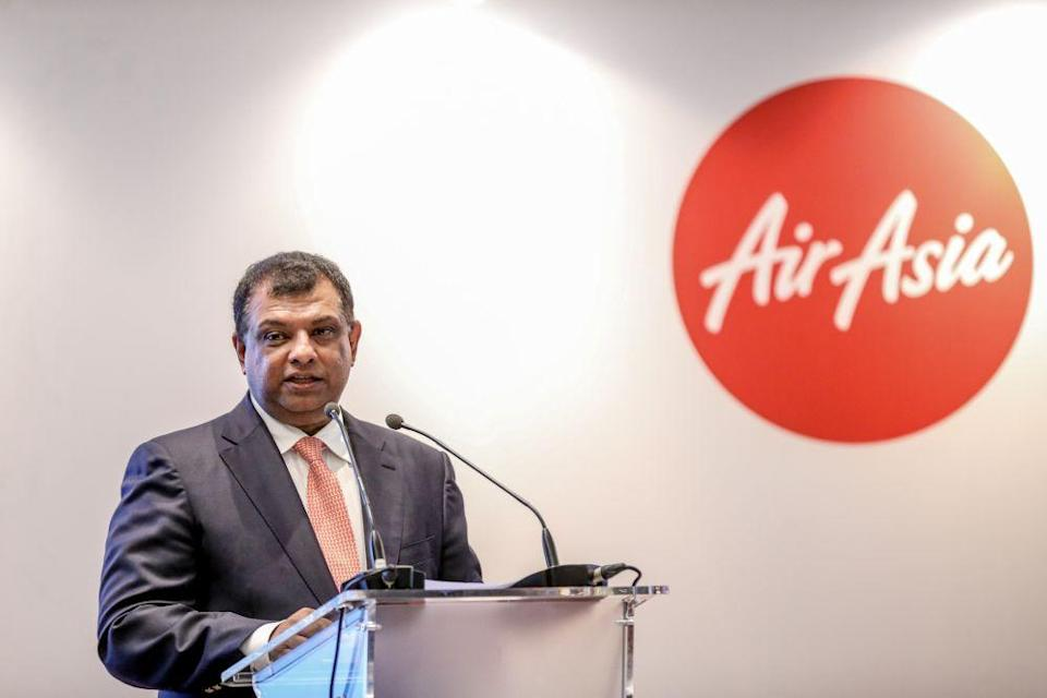 Air Asia Group CEO Tan Sri Tony Fernandes delivers a speech in Kuala Lumpur August 30, 2019. — Picture by Firdaus Latif