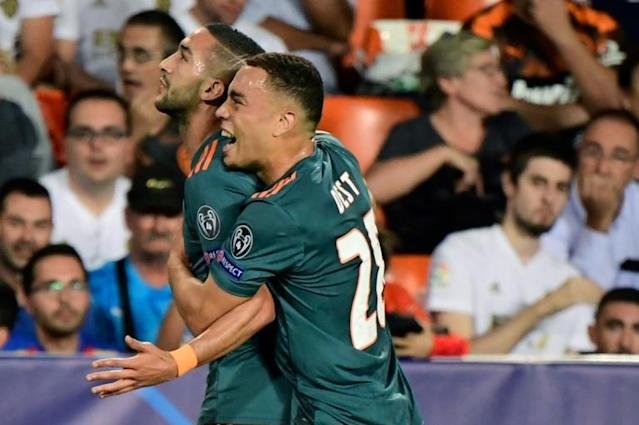 Hakim Ziyech has impressed his future manager Chelsea's Frank Lampard at how he has not allowed a tough upbringing affect his performances for Ajax (AFP Photo/JAVIER SORIANO)