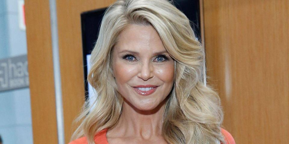 """<p>The model opened up about trying Xeomin for frown lines and Ultherapy for for her neck and chest to <em><a href=""""https://www.harpersbazaar.com/beauty/skin-care/a12780616/christie-brinkley-anti-aging-treatments/"""" rel=""""nofollow noopener"""" target=""""_blank"""" data-ylk=""""slk:People"""" class=""""link rapid-noclick-resp"""">People</a> </em>in October 2017. """" """"I wondered if people would think I'm phony and fake,"""" she said. """"But it's better to be honest and say, 'Yeah, this is what I do.'""""</p>"""