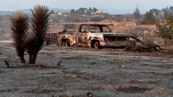 PHOTO: A scorched landscape from the Bobcat Fire in the Mojave Desert community of Juniper Hills, Calif., Sept. 19, 2020. (Frederic J. Brown/AFP via Getty Images)