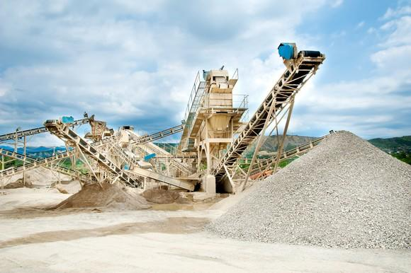 Sand and aggregate mine.