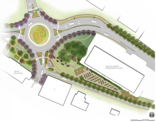 The area will feature a new roundabout near Cornwallis Street.