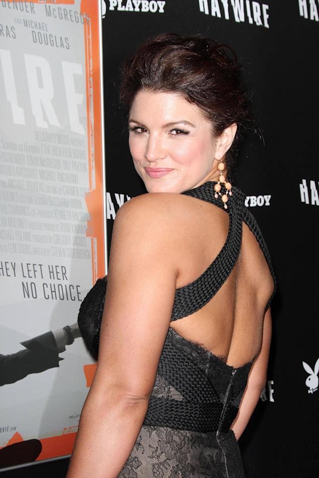 Gina Carano 'Haywire' Los Angeles premiere at the DGA Theater - Arrivals Los Angeles, California - 05.01.12 Mandatory Credit: FayesVision/WENN.com