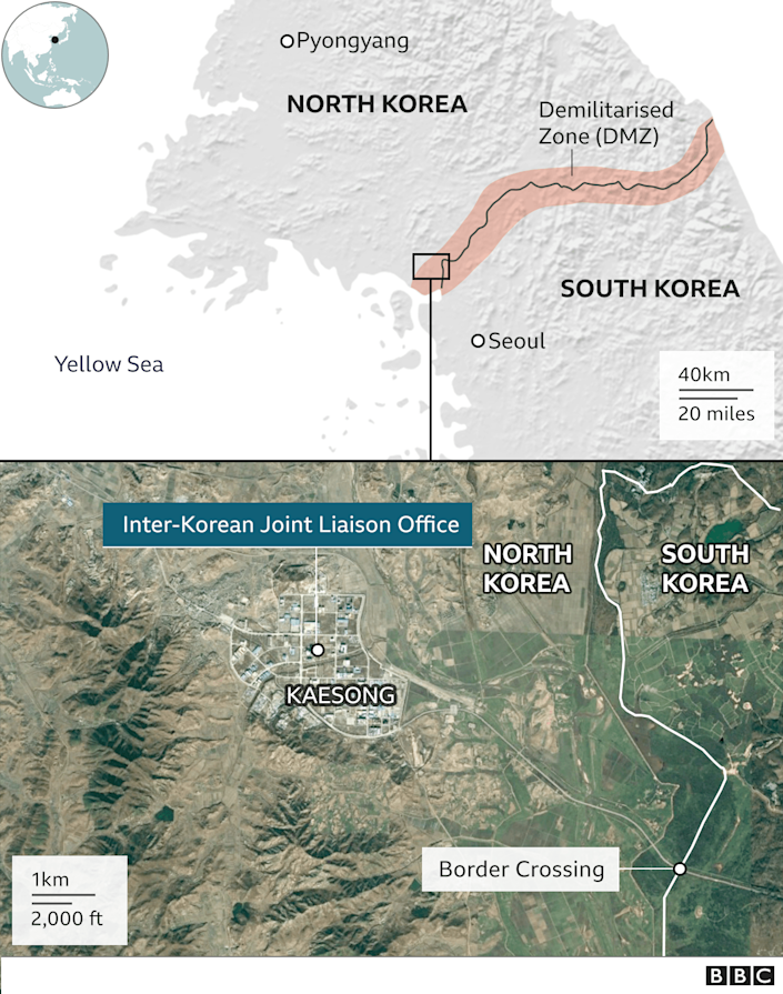 Map of Inter-Korean Joint Liaison Office