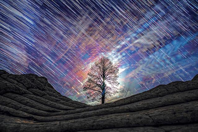<p>Working in conjunction with the International Dark Sky Association, filmmakers Gavin and Harun created maps that would take them to areas free from light pollution, where they would then shoot the skies using long-exposure settings. (SKYGLOW/CATERS NEWS) </p>