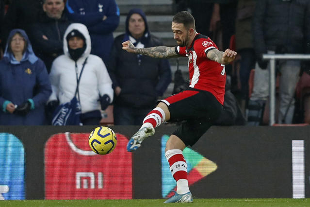 Danny Ings scores the opening goal of the match. (Credit: Getty Images)