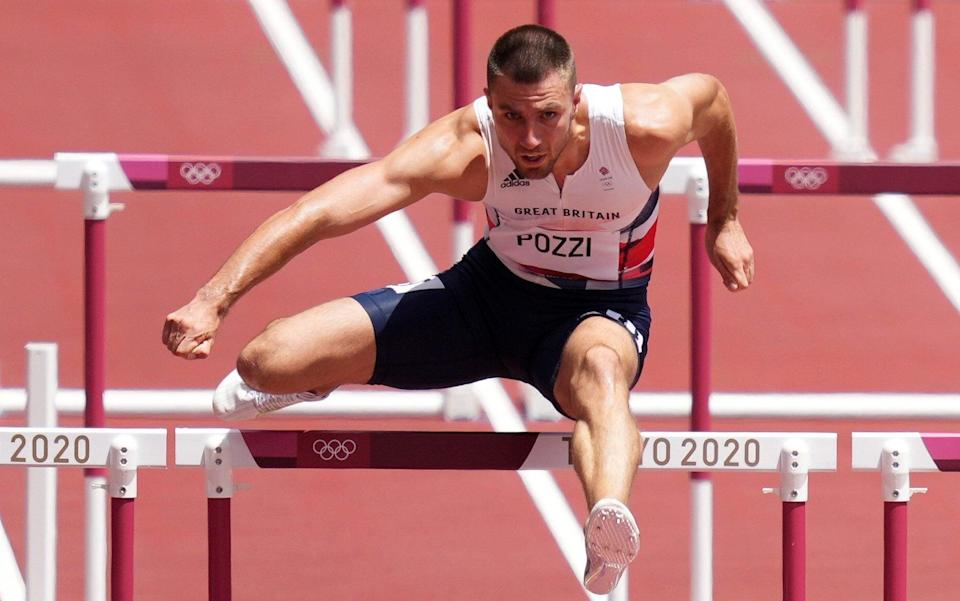 Great Britain's Andrew Pozzi during the Men's 110m Hurdles Semi Final at the Olympic Stadium on the twelfth day of the Tokyo 2020 Olympic Games in Japan. - PA