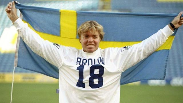 <p>Swedish forward Tomas Brolin had been a star in the early 1990s, part of an exciting Swedish golden generation that reached the semi finals of Euro '92 and the 1994 World Cup, as well as starring for a top Parma side in Serie A, then the undisputed best league in the world.</p> <br><p>By the time he joined Leeds in late 1995 for £4.5m things had started to unravel. Injuries and clashes with manager Howard Wilkinson meant fans never saw Brolin at anything like his best. He later wound up at Crystal Palace in 1997 and struggled terribly with his weight.</p>