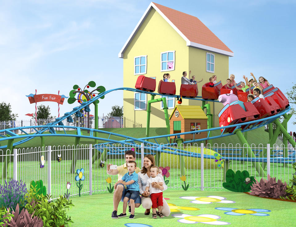 On Daddy Pig's Roller Coaster, preschoolers and their families will take a wild
