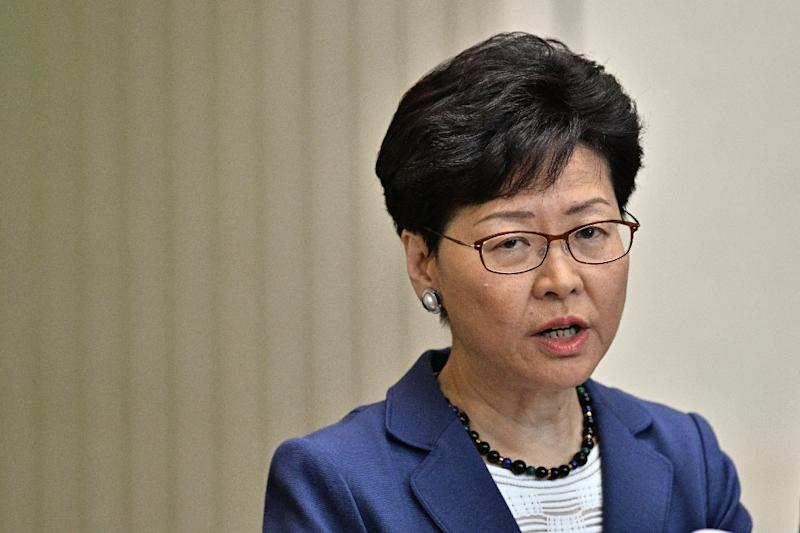 Hong Kong Chief Executive Carrie Lam has displayed a steely resolve even in the face of mass protests (AFP Photo/Anthony WALLACE)