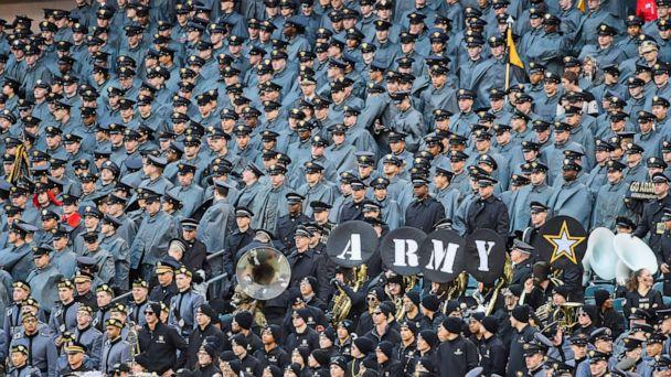 PHOTO: Army Black Knights band performs during the Army-Navy game on December 14, 2019 at Lincoln Financial Field in Philadelphia. (Icon Sportswire via AP, FILE)