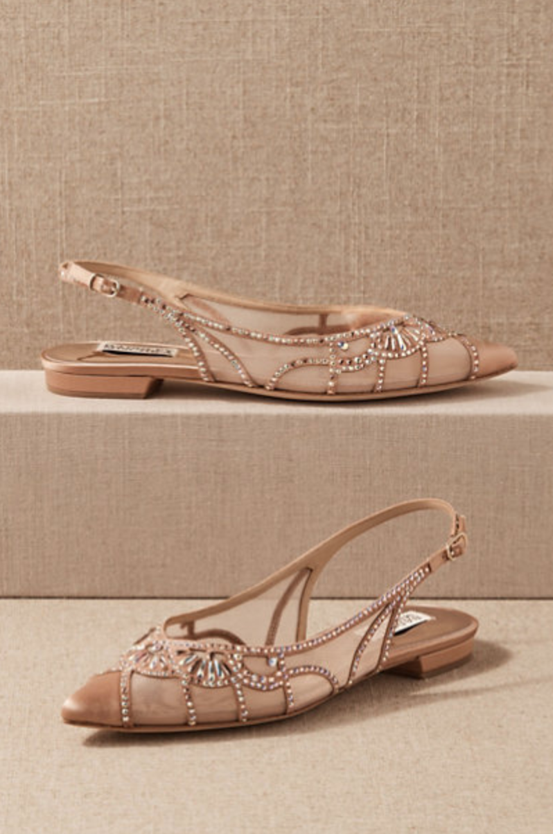 Badgley Mischka 'Hanna' Flats (Photo via BHLDN)