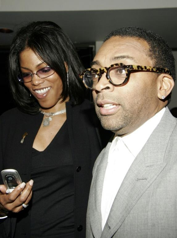 Spike Lee is seen here in February 2005 with Malcolm X's daughter Ilyasah Shabazz at a ceremony commemorating the 40th anniversary of the death of the rights activist. Lee released his film 'Malcolm X' in 1992