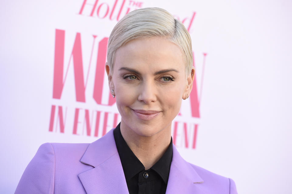 Charlize Theron arrives at The Hollywood Reporter's Women in Entertainment Breakfast Gala on Wednesday, Dec. 11, 2019, in Los Angeles. (Photo by Jordan Strauss/Invision/AP)