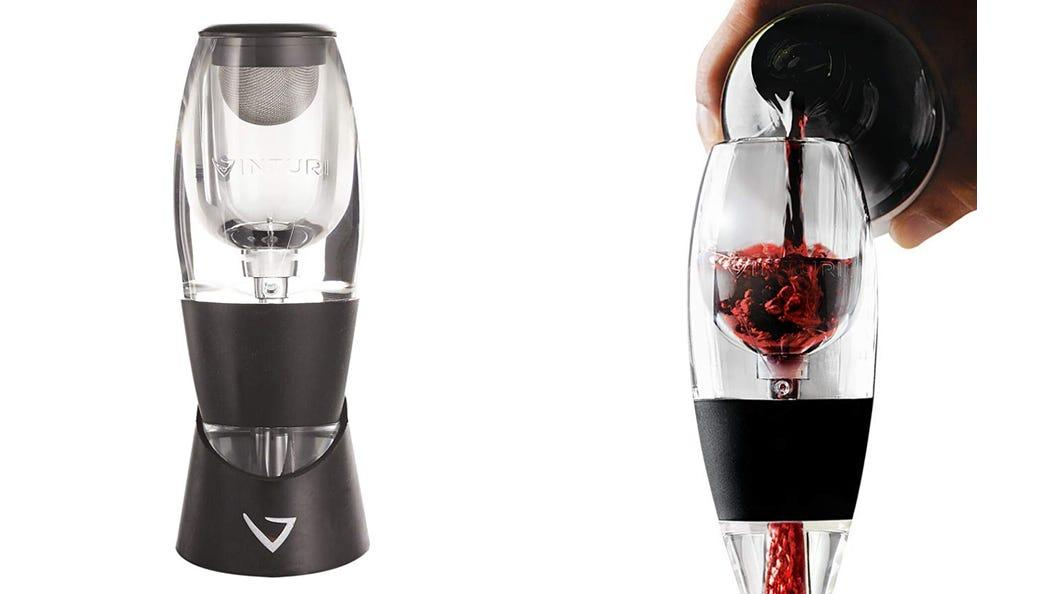 This wine aerator is ideal for wine lovers at holiday parties.