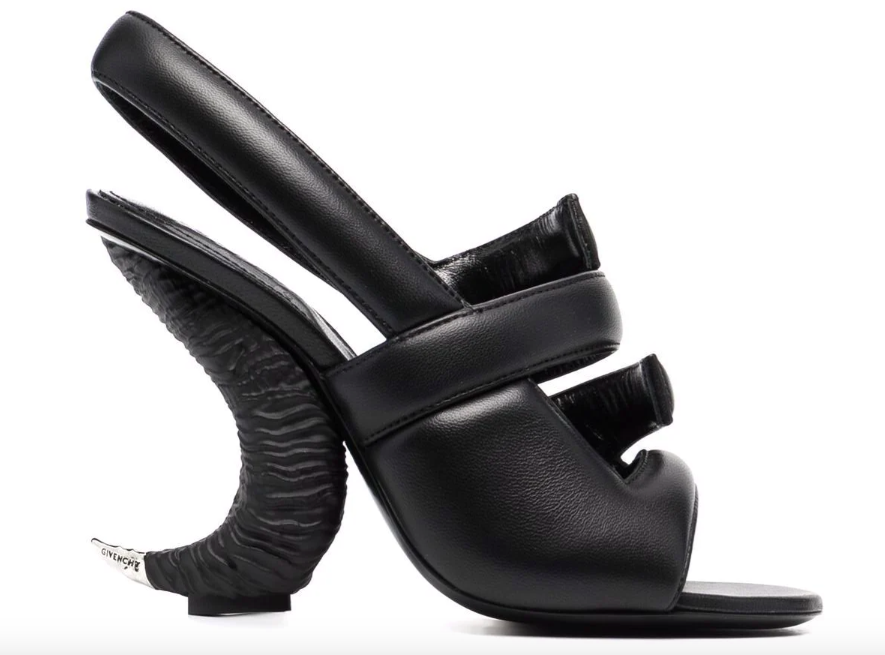 Givenchy horn-effect sandals.  - Credit: courtesy of Farfetch