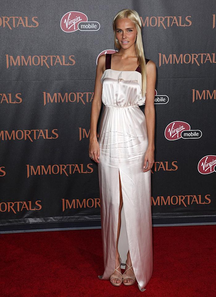 """<a href=""""http://movies.yahoo.com/movie/contributor/1810088917"""">Isabel Lucas</a> at the Los Angeles premiere of <a href=""""http://movies.yahoo.com/movie/1810150710/info"""">Immortals</a> on November 7, 2011."""