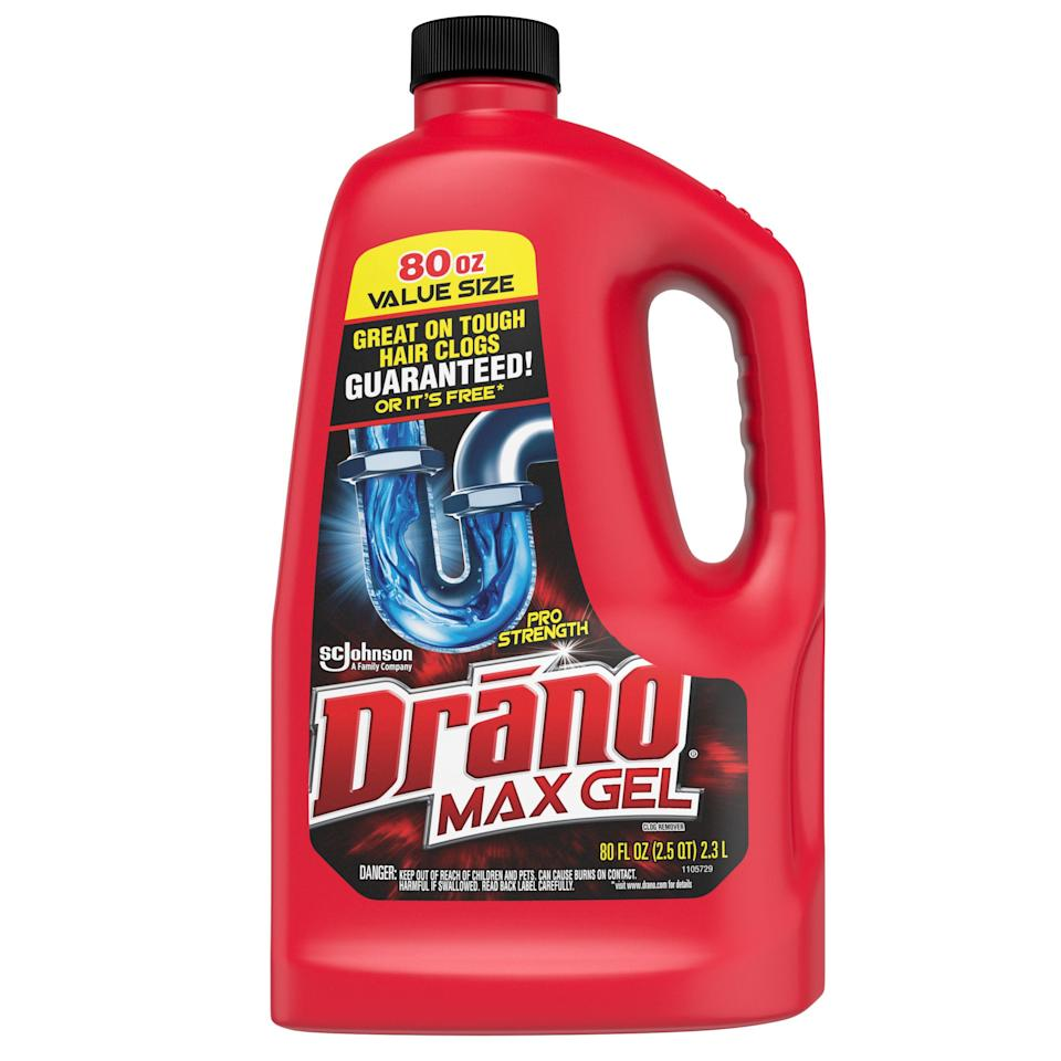 """<p><strong>Drano</strong></p><p>walmart.com</p><p><strong>$6.98</strong></p><p><a href=""""https://go.redirectingat.com?id=74968X1596630&url=https%3A%2F%2Fwww.walmart.com%2Fip%2F13399147&sref=https%3A%2F%2Fwww.goodhousekeeping.com%2Flife%2Fmoney%2Fg35000690%2Fgh-editors-favorite-products-2020%2F"""" rel=""""nofollow noopener"""" target=""""_blank"""" data-ylk=""""slk:Shop Now"""" class=""""link rapid-noclick-resp"""">Shop Now</a></p><p>Clogs and slow drains happen, and Redmile recommends this <a href=""""https://www.goodhousekeeping.com/home/cleaning/g31153987/best-drain-cleaners/"""" rel=""""nofollow noopener"""" target=""""_blank"""" data-ylk=""""slk:gel remover"""" class=""""link rapid-noclick-resp"""">gel remover</a> for a quick solution. """"The thick gel sinks through any standing water and eases down the drain to get to the source of the problem,"""" she says. """"<strong>It </strong><strong>dissolves hair, melts soap scum, grease and other gunky clogs in less than 15 minutes</strong>. It's safe for piping and septic systems too!""""<br></p>"""