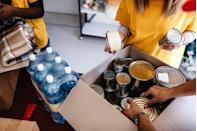 """<p>One of the best ways to fight food insecurity is to get hands-on. No one should feel obligated to volunteer during the novel coronavirus pandemic, but if you can manage it, the food banks in your area probably need the extra hands. Find volunteer opportunities through <a href=""""https://www.feedingamerica.org/take-action/volunteer"""" rel=""""nofollow noopener"""" target=""""_blank"""" data-ylk=""""slk:Feeding America"""" class=""""link rapid-noclick-resp"""">Feeding America</a> or through sites like <a href=""""https://www.volunteermatch.org/"""" rel=""""nofollow noopener"""" target=""""_blank"""" data-ylk=""""slk:Volunteer Match"""" class=""""link rapid-noclick-resp"""">Volunteer Match</a>, which link you with organizations close to you.</p>"""