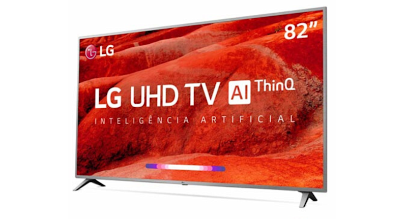 "Smart TV LG UHD 4K 82"" com Smart Magic"