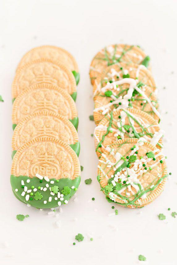 "<p>If you're pressed for time, these dip-and-go Oreos, splattered with ""green"" white chocolate, are ready in minutes.</p><p><em><a href=""https://sprinklesforbreakfast.squarespace.com/sprinkles-for-breakfast/st-patricks-day-oreos"" rel=""nofollow noopener"" target=""_blank"" data-ylk=""slk:Get the recipe from Sprinkles for Breakfast »"" class=""link rapid-noclick-resp"">Get the recipe from Sprinkles for Breakfast »</a></em></p>"