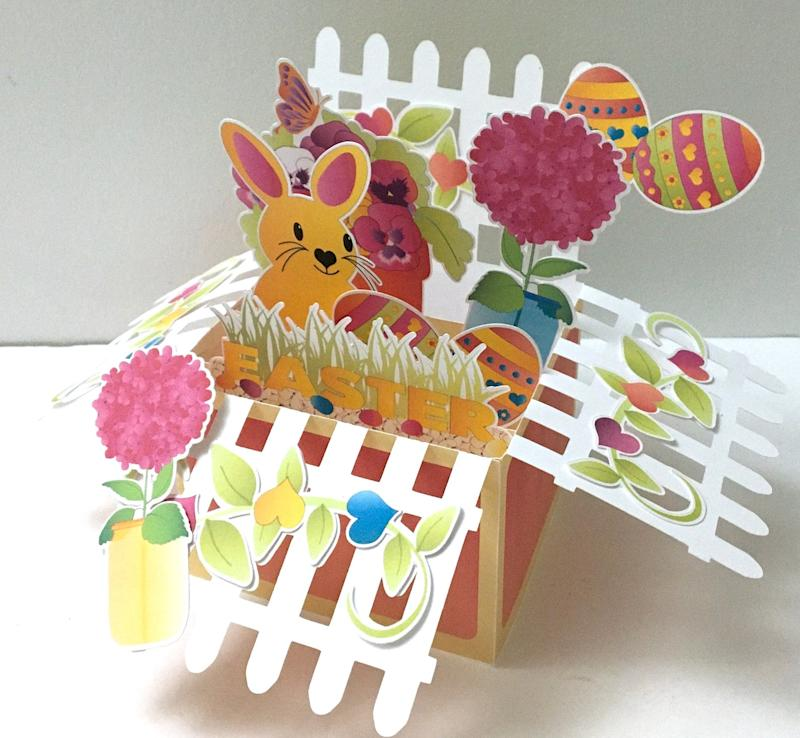 Easter Bunny Pop Up Box Card. Image via Etsy.