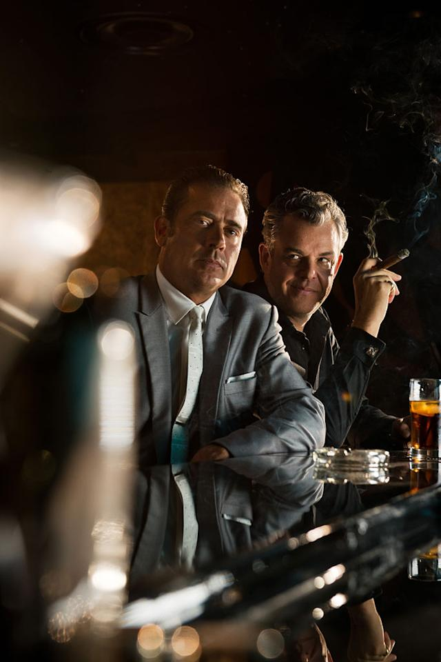 "Jeffrey Dean Morgan as Ike Evans and Danny Huston as Ben Diamond in ""Magic City"" Season 2."