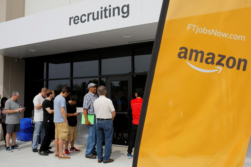 Amazon is ramping up its holiday hiring. (Reuters)