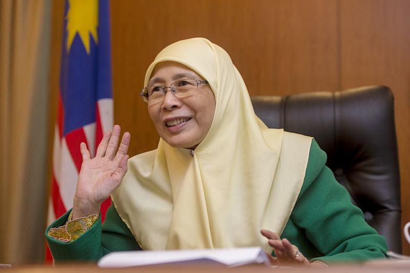 Wan Azizah said a 'Gender Equality Act' is being prepared pending further feedback from rights groups and stakeholders. — Picture by Mukhriz Hazim