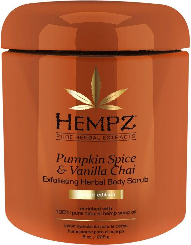 """<h3>Hempz Pumpkin Spice & Vanilla Chai Exfoliating Body Scrub</h3><br>Quarantine could never prevent the magnificent return of <a href=""""https://www.refinery29.com/en-us/2020/08/9984105/pumpkin-spice-latte-starbucks-trend-history-2020"""" rel=""""nofollow noopener"""" target=""""_blank"""" data-ylk=""""slk:PSL season"""" class=""""link rapid-noclick-resp"""">PSL season</a> — even if we're sipping on our seasonal hot beverage from the comfort of our home.<br><br><strong>Hempz</strong> Pumpkin Spice & Vanilla Chai Exfoliating Body Scrub, $, available at <a href=""""https://go.skimresources.com/?id=30283X879131&url=https%3A%2F%2Fwww.ulta.com%2Fpumpkin-spice-vanilla-chai-exfoliating-herbal-body-scrub%3FproductId%3Dpimprod2007873%23locklink"""" rel=""""nofollow noopener"""" target=""""_blank"""" data-ylk=""""slk:Ulta Beauty"""" class=""""link rapid-noclick-resp"""">Ulta Beauty</a>"""