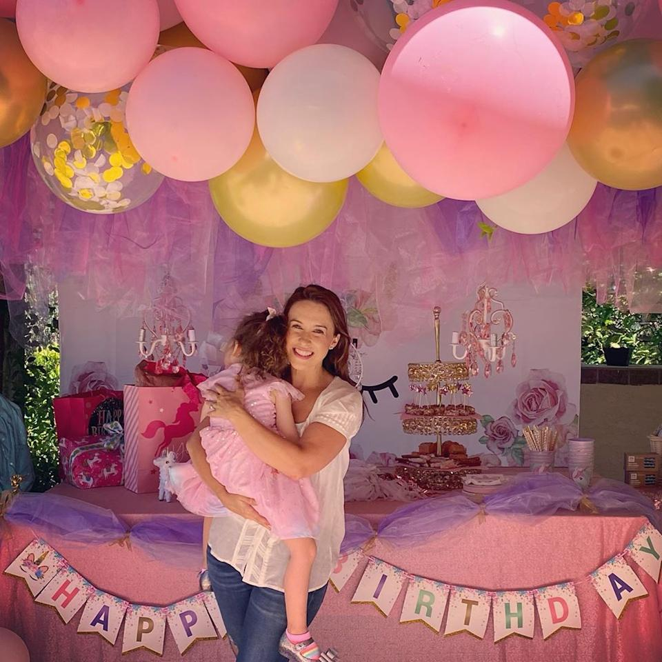 "<p>Lacey Chabert's daughter <a href=""https://people.com/parents/lacey-chabert-welcomes-daughter-julia-mimi-bella/"">Julia Mimi Bella</a> turned 4 on Sept. 1.</p>"