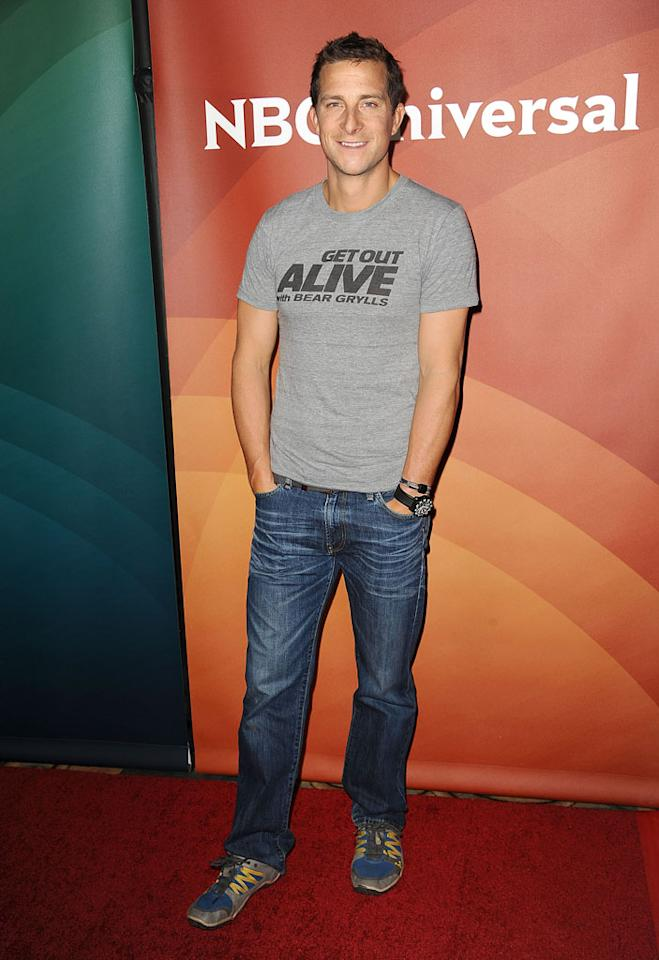 "Bear Grylls (""Get Out Alive With Bear Grylls"") attends the 2013 NBC Universal Summer Press Day held at The Langham Huntington Hotel and Spa on April 22, 2013 in Pasadena, California."