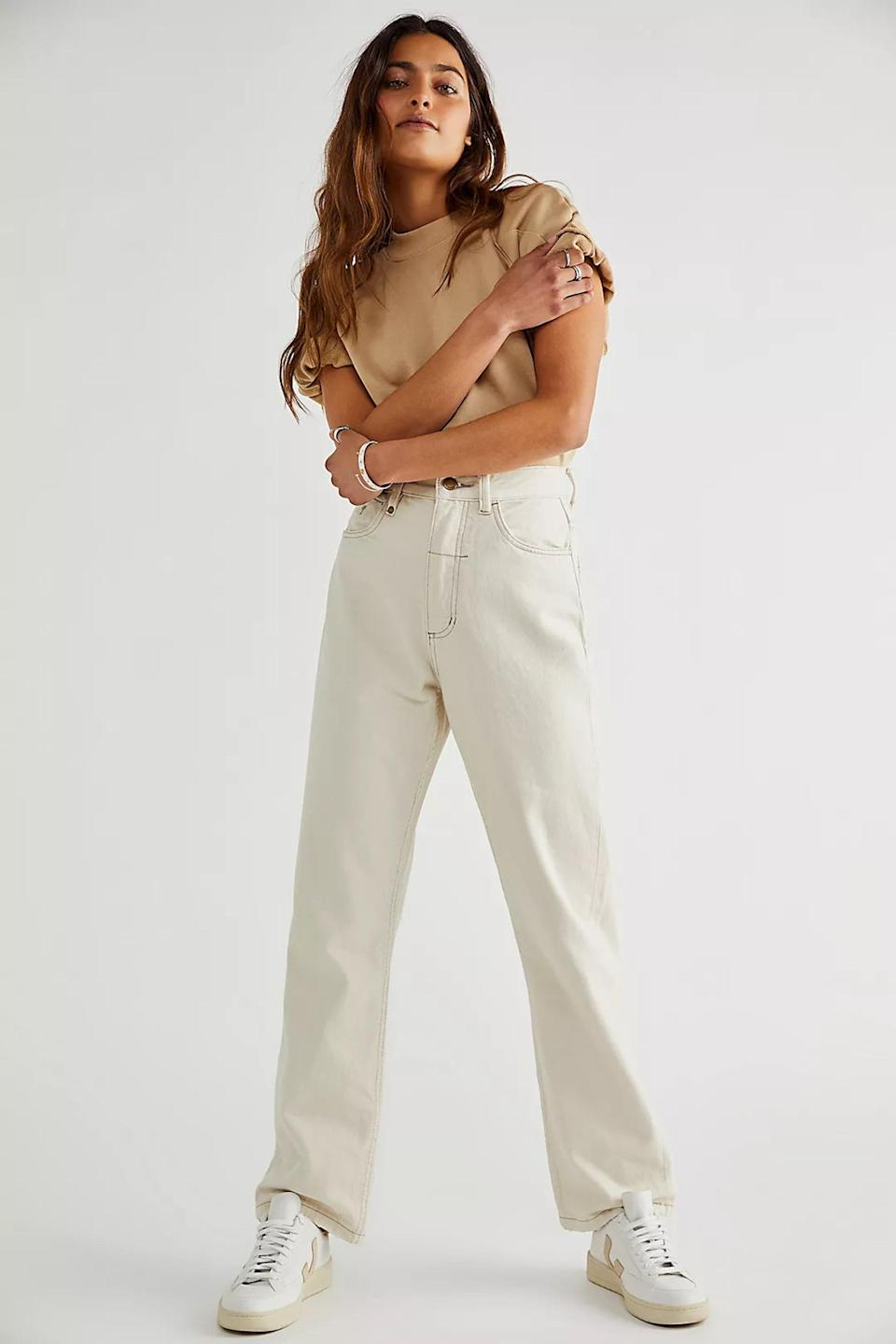 <p>The <span>Thrills Pulp Jeans</span> ($130) are made with at least 50 percent eco-conscious fiber and are not the brightest shade of white, if you'd rather go for something more muted and natural.</p>